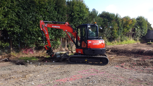 Machinery Hire: 1.7 and 5 Tonne Zero Swing Excavators